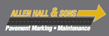 Allen Hall and Sons, pavement marking, parking lots, warehouse, safety lines, logo