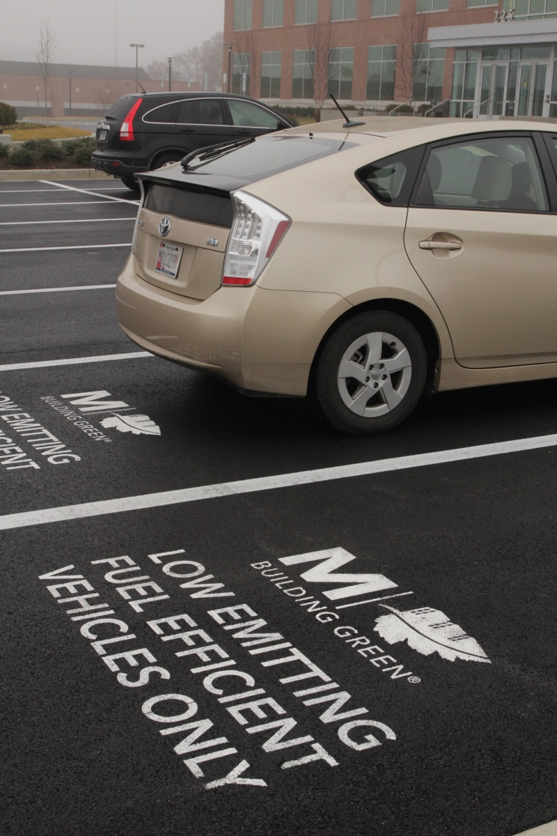 pavement marking, allen hall and sons, fuel efficient vehicle, charging station spaces