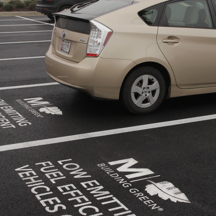 allen hall & sons, pavement marking, custom stencil, parking lot painting