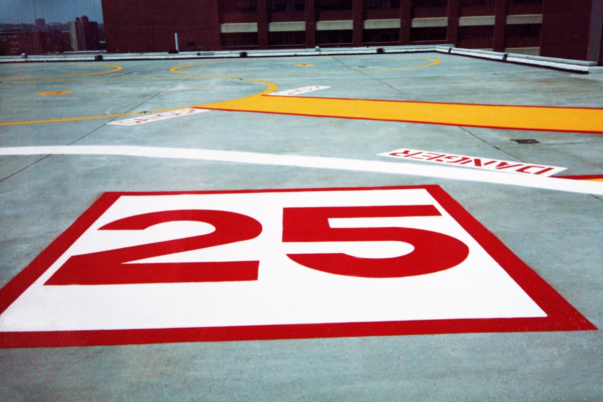 allen hall & sons, pavement marking, custom stencil, parking lot painting, seal coating