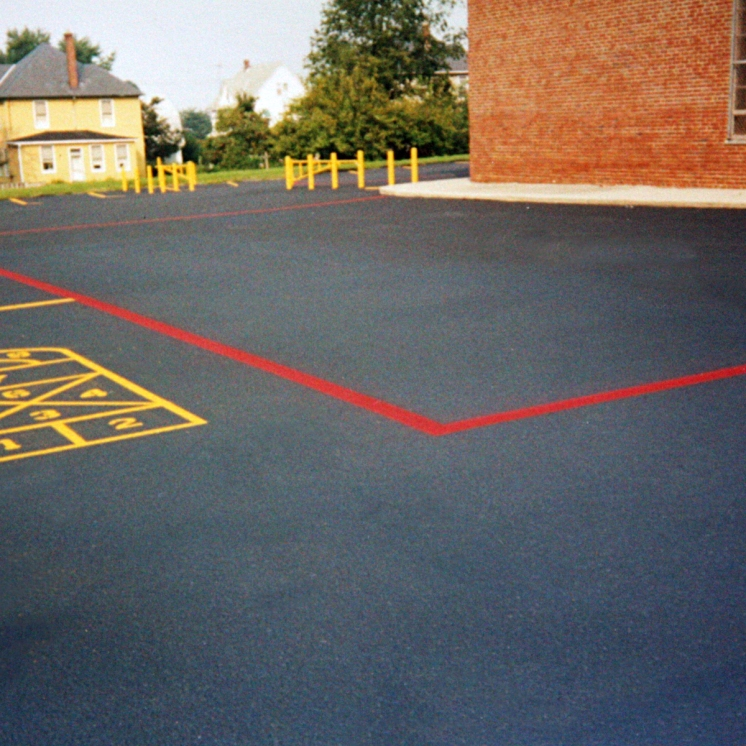 allen hall & sons, parking lot painting, blacktop paintingg